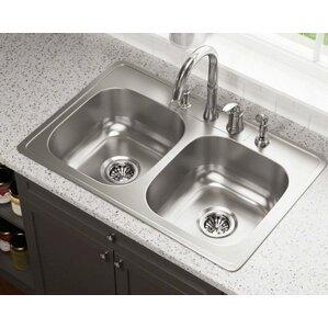 Drop In Stainless Steel Kitchen Sinks elegant stainless steel kitchen sink | wayfair