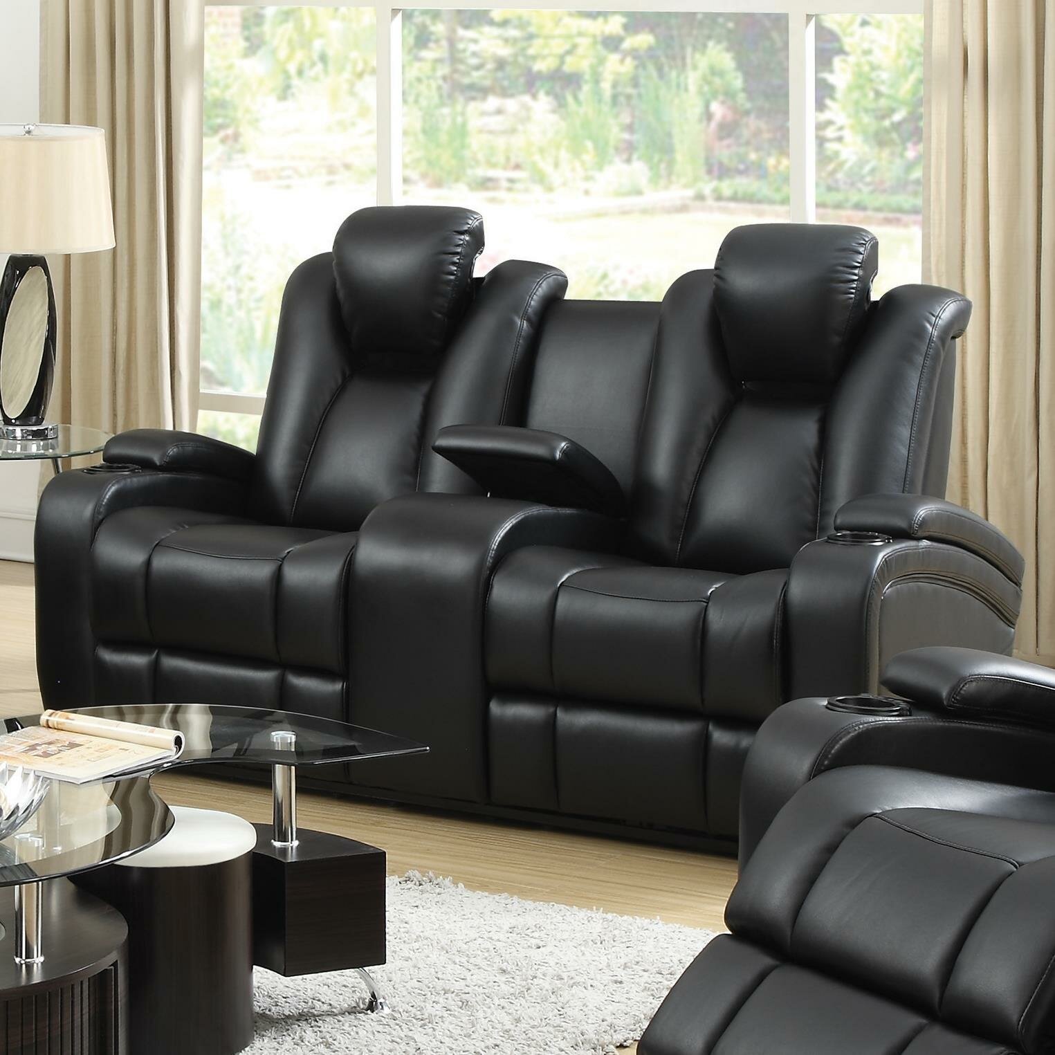 abbyson top reclining garden product home loveseat overstock grain today living shipping madison free pushback leather