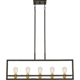 theophania 5-light square/rectangle chandelier