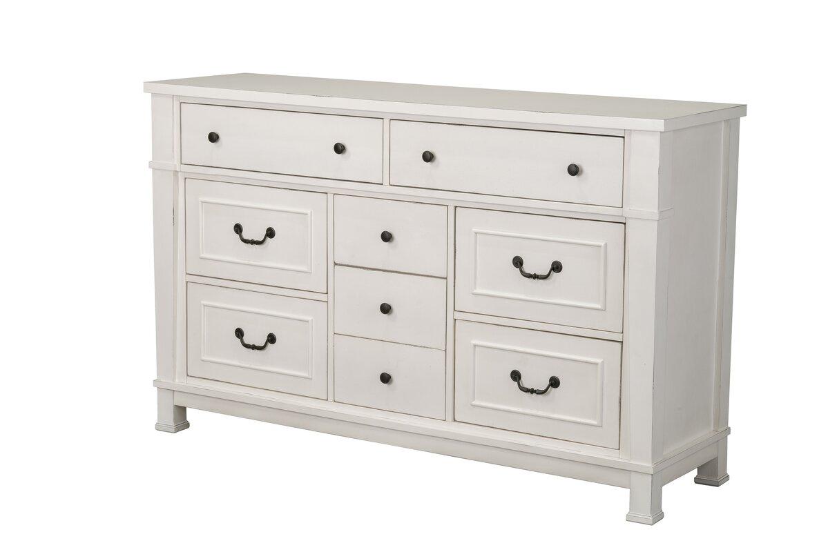 Parfondeval White  Drawer Standard Dresser
