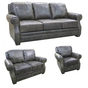 Boise Leather 3 Piece Living Room Set by Coja