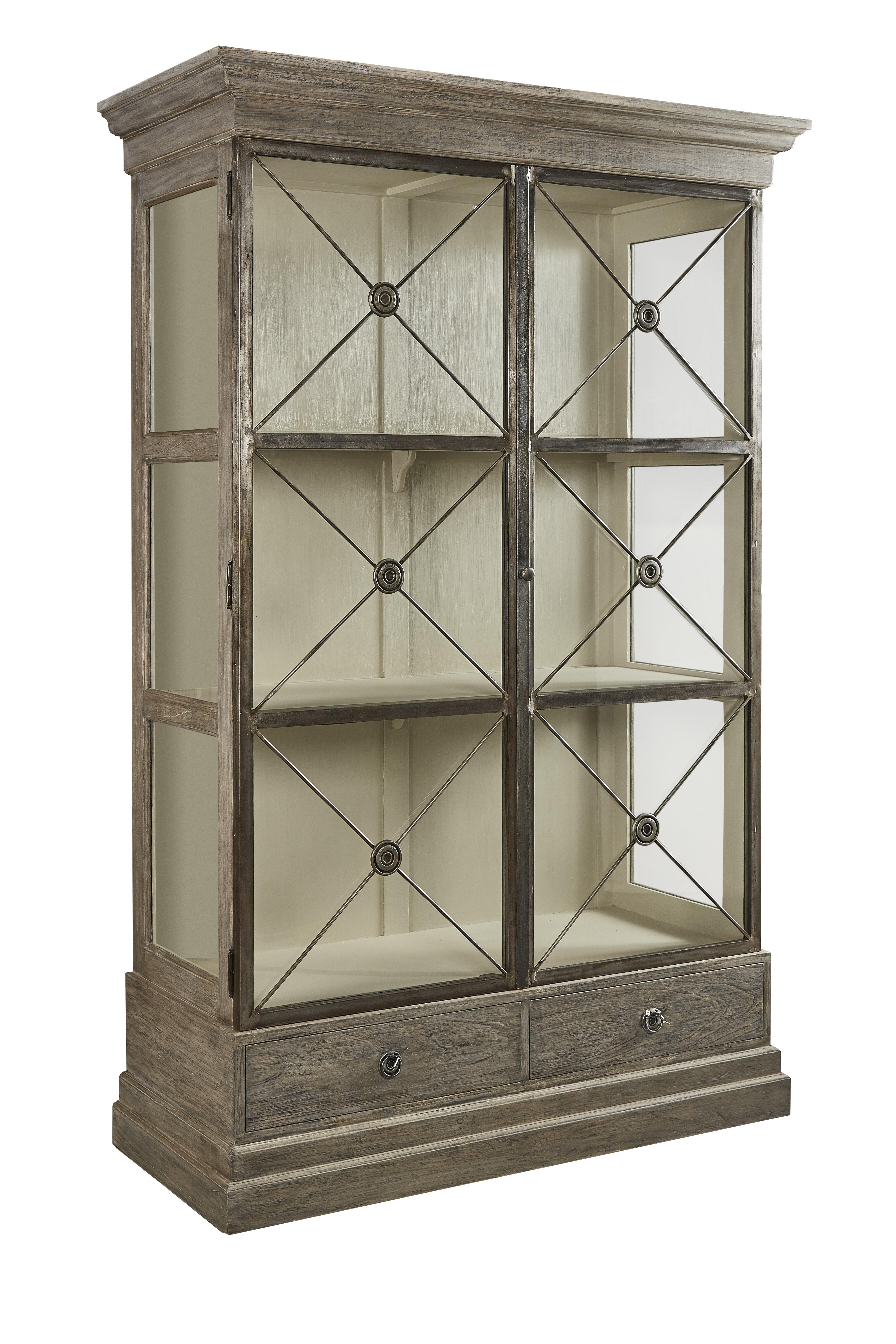 White Glass Door Bookcase Wayfair