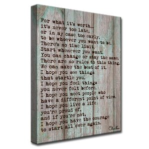 'Courage' by Olivia Rose Textual Art on Canvas In Gray/Brown