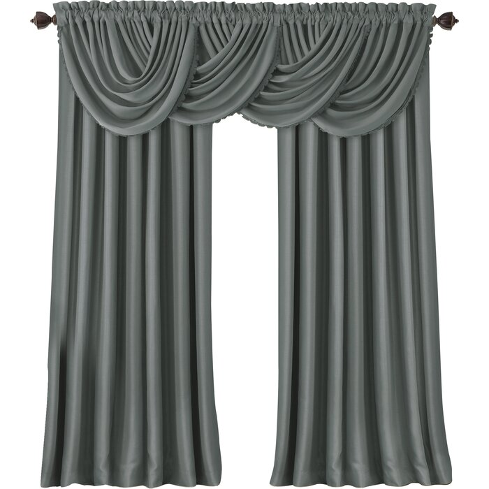 beyond waterfall curtains buy insola in window curtain insulating bath from grey odyssey valance bed
