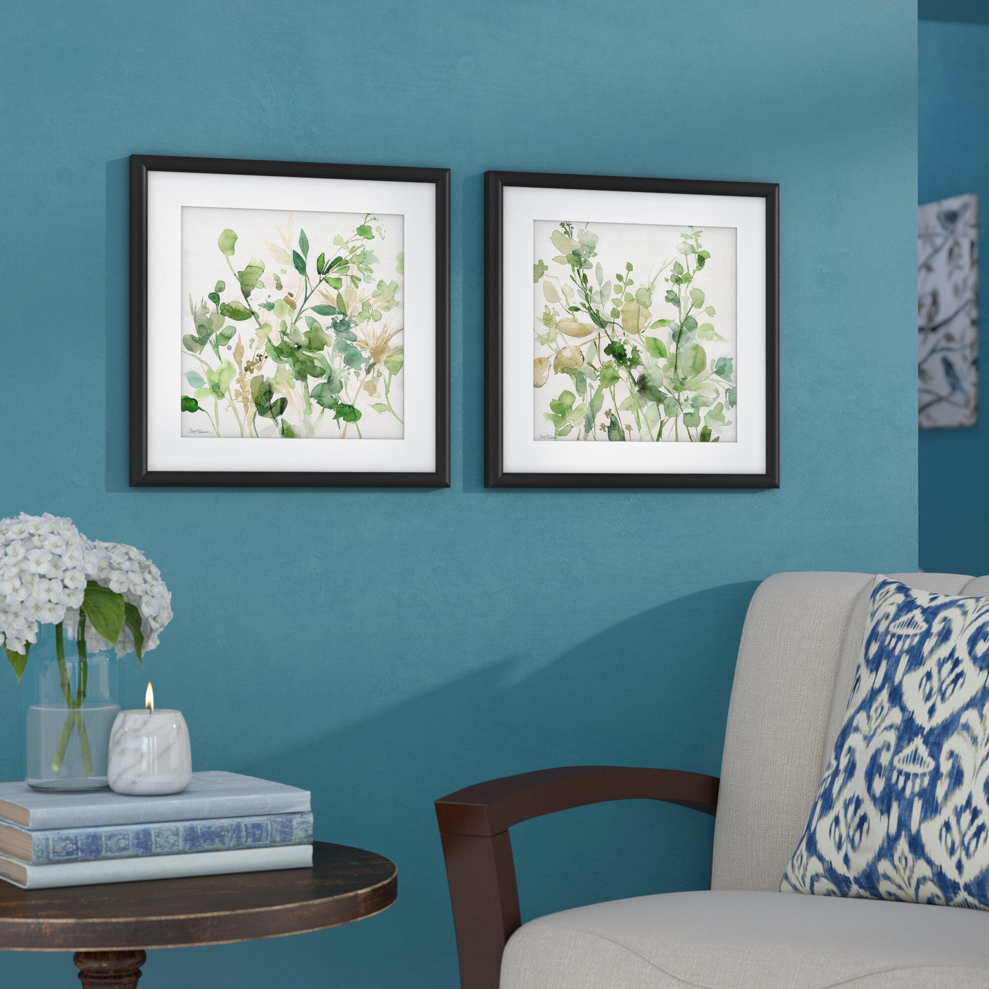 Charlton Home Sage Garden 2 Piece Framed Graphic Art Print