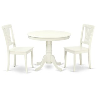 Kurland 3 Piece Solid Wood Breakfast Nook Dining Set
