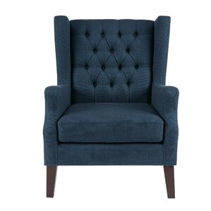 Fredonia Button Tufted Wingback Chair by Alcott Hill