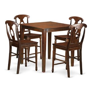 Vernon 5 Piece Counter Height Pub Table S..
