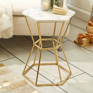 Lovely Carita Marble Top End Table