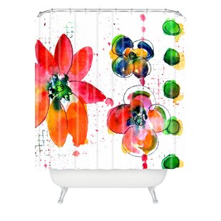 Summer In Watercolor Shower Curtain