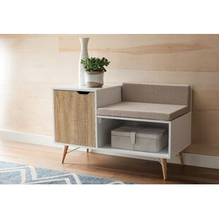 Blanket Box Ottoman Storage With Leather Upholstery In White Oak Long Performance Life Ottomans, Footstools & Poufs