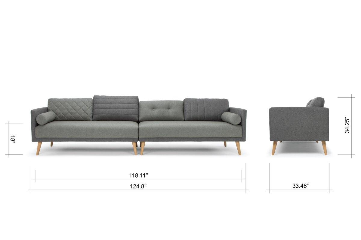 eli modern sofa reviews allmodern. Black Bedroom Furniture Sets. Home Design Ideas