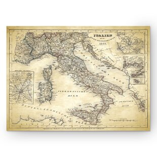 Map desk wayfair italy sketch map ii graphic art print on wrapped canvas gumiabroncs Gallery