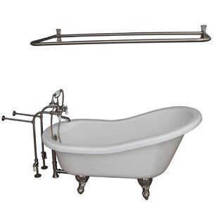 Shower Rod For Clawfoot Tub Wayfair