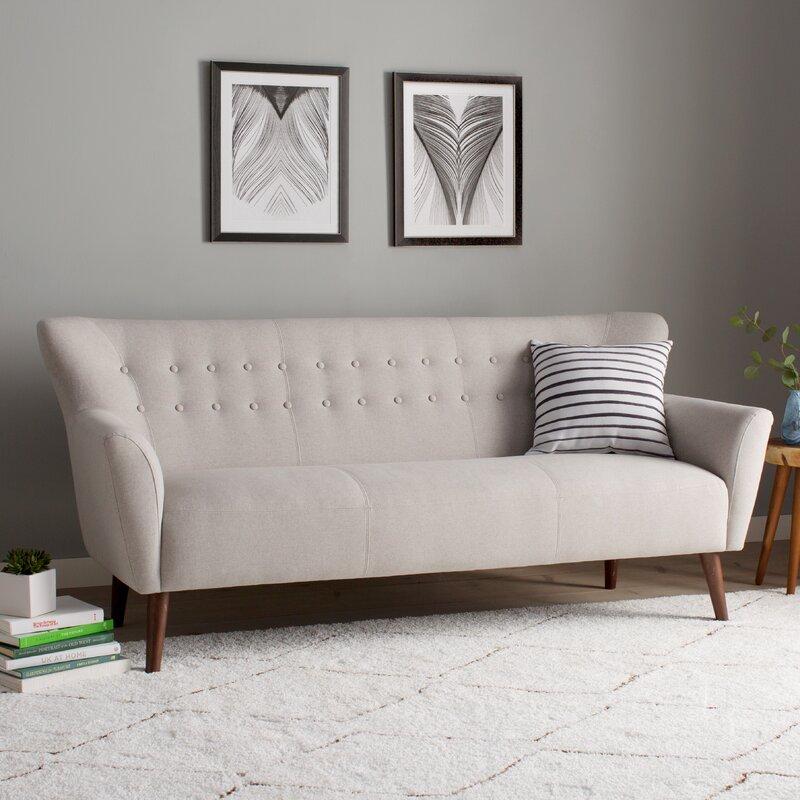Gabrielle Mid Century Modern Sofa