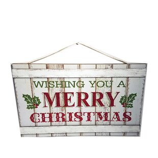 wishing you a merry christmas wood sign wall dcor - Merry Christmas Wooden Sign