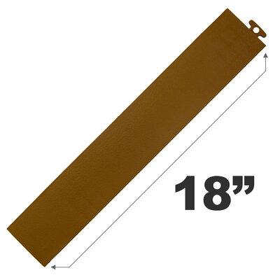 "18"" Multi Purpose Ramp Edges In Brown Without Loops Blocktile"