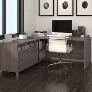 L Shaped Desk For Two home office two person desk | wayfair