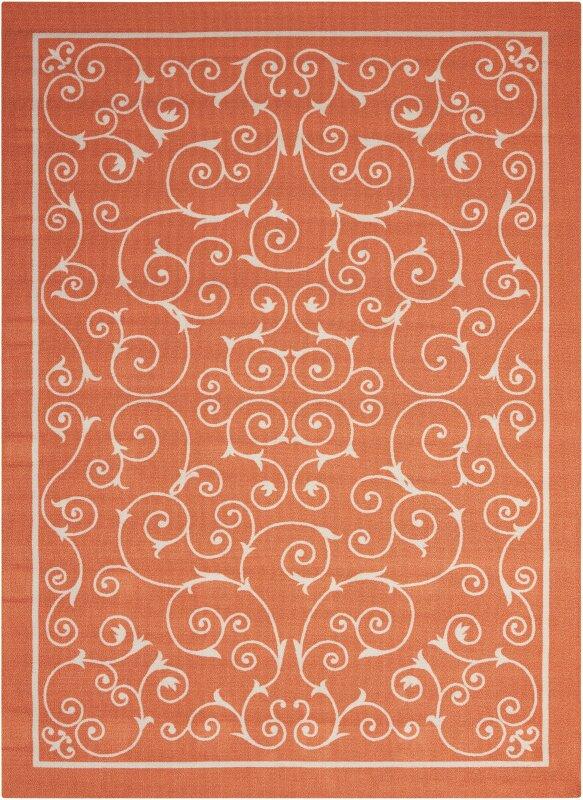 Oscar Orange Indoor/Outdoor Area Rug & Reviews | Birch Lane