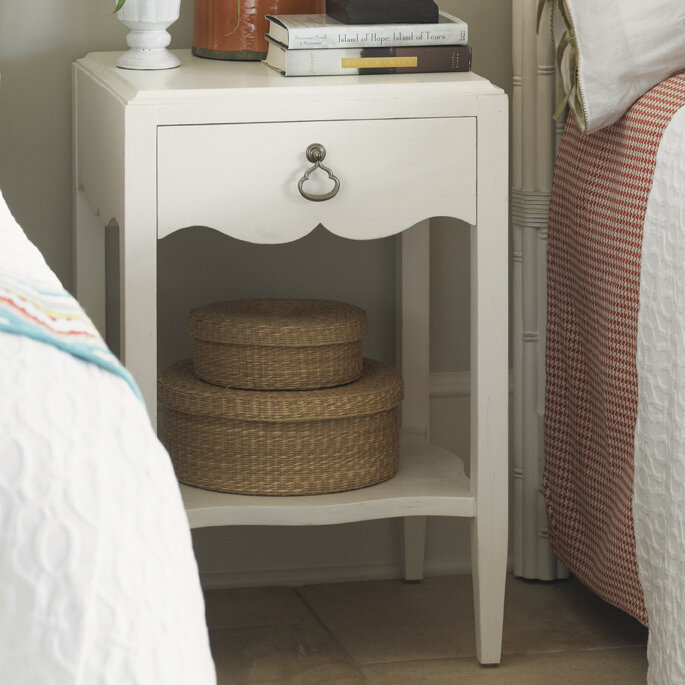Tommy bahama home ivory key 1 drawer nightstand reviews for Bahama towel chaise cover