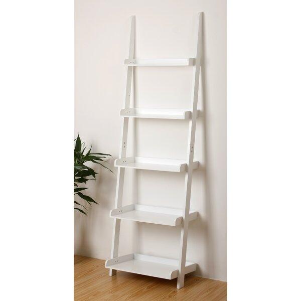 Amazon.com: Mintra Oak Finish 5-Tier Ladder Book Shelf: Kitchen & Dining