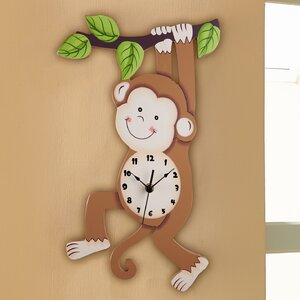 Fantasy Fields Sunny Safari Monkey Wall Clock