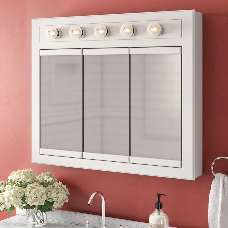 Searle 36 X 30 Surface Mount Medicine Cabinet With Lighting