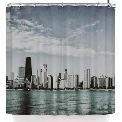 Mary Carol Fitzgerald Chicago Morning Skyline Shower Curtain