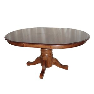 Swarthmore Solid Oak Butterfly Extendable Dining Table by Darby Home Co