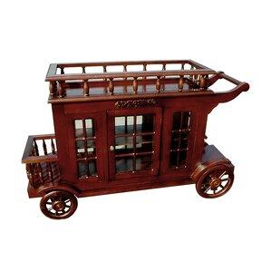 Alim Wine Trolley Carriage Bar Cart by Astoria Grand