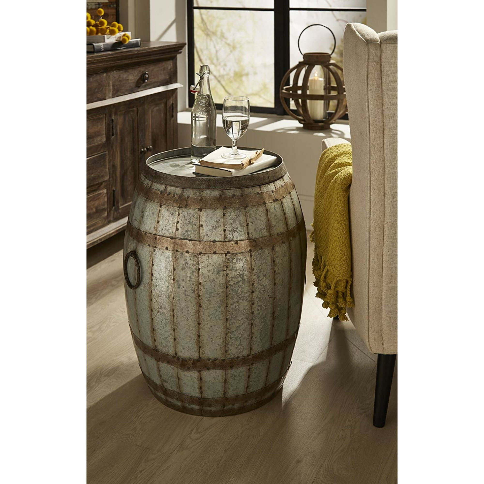 Woodland Imports Vineyard Wine Barrel End Table Reviews Wayfair
