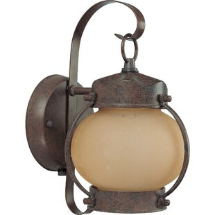 Photocell included outdoor wall lighting youll love wayfair rhian 1 light outdoor sconce workwithnaturefo