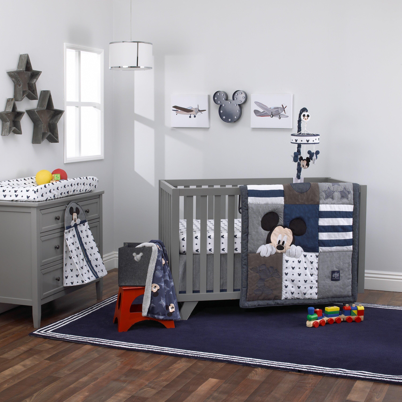 Carter S Disney Mickey Mouse Hello World 4 Piece Crib Bedding Set Wayfair