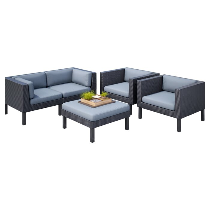 Furniture Store Oakland: DCOR Design Oakland 5 Piece Sofa Set With Cushions