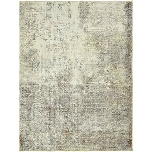 Sela Traditional Vintage Persian Hand Woven Silk Beige Area Rug