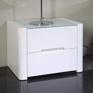 Nachttisch mit 2 Schubladen von Home Loft Concept