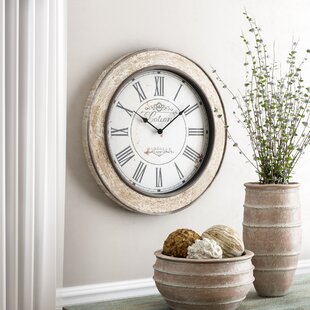 "24"" Round Wood Wall Clock"