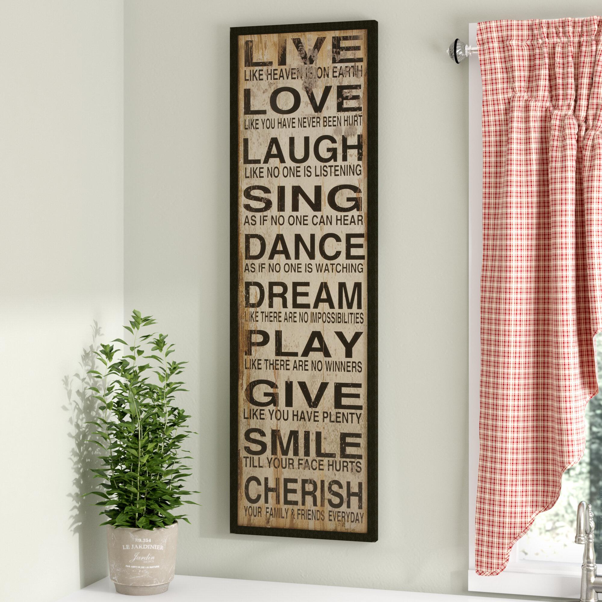 August Grove Live Love Laugh Textual Art Plaque Reviews