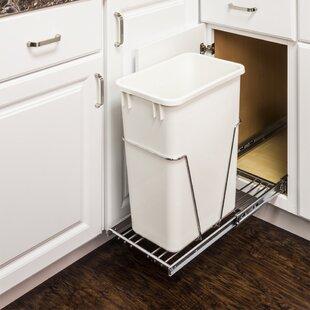 Save & Door Mounted Trash Can | Wayfair