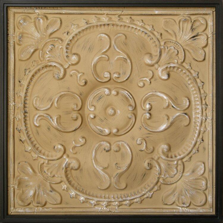 HDC International Metal Tin Framed Tan Wall Decor & Reviews | Wayfair