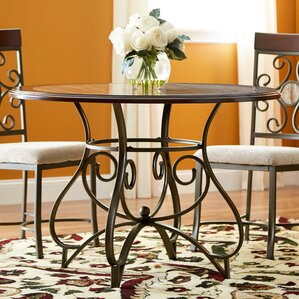 Corinne Metal Dining Table by Fleur De Lis Living