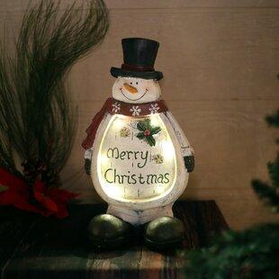 christmas snowman light up statue