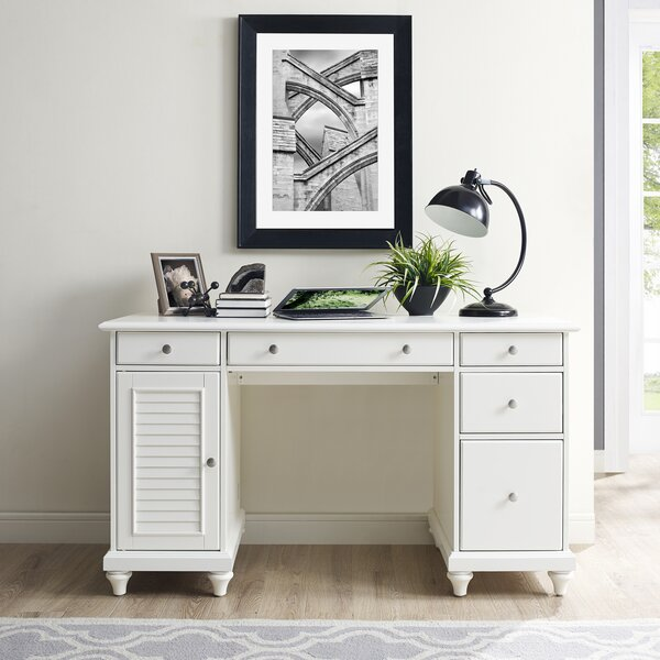 Oak Trendy White Desk Concepts Office Furniture Youu0027ll Love | Wayfair