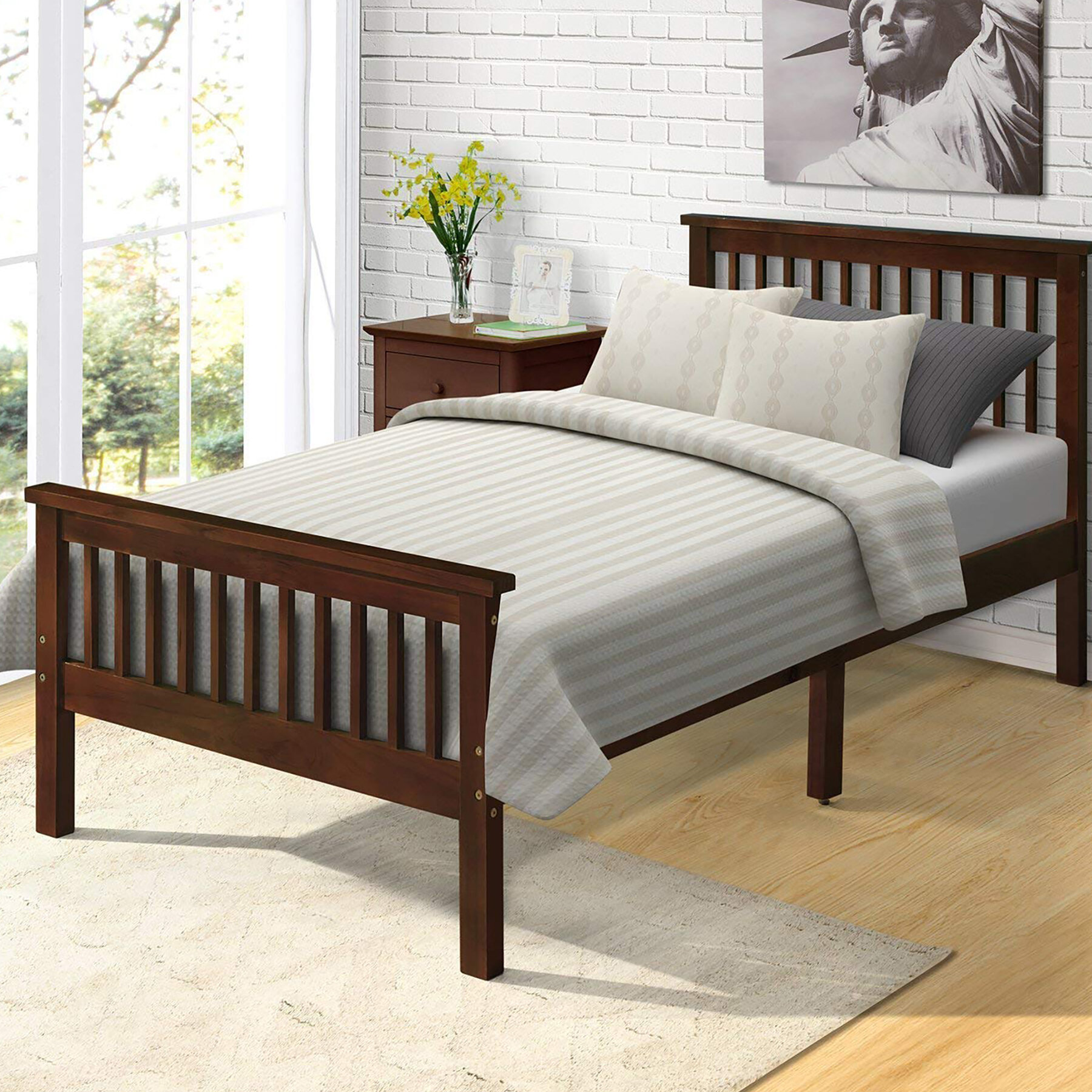 Harriet Bee Leander Twin Platform Bed Reviews Wayfair