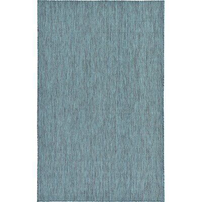 New Haven Teal  Area Rug Andover Mills