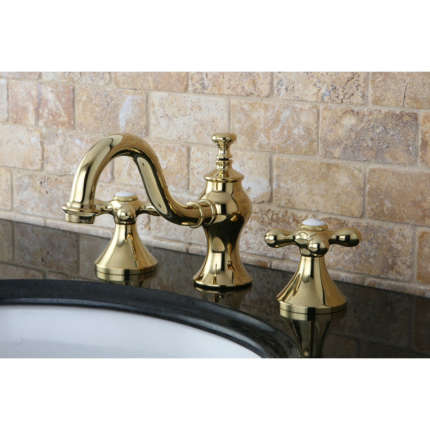 Kingston Brass Vintage Widespread Lavatory Bathroom Faucet with ...