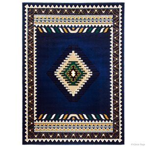 Iberide High-Quality Woven Navy Area Rug