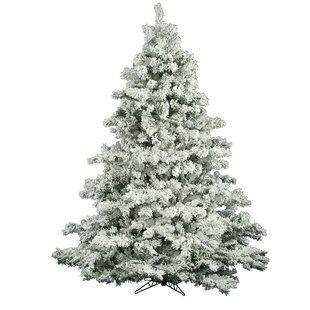 flocked alaskan 65 whitegreen pine trees artificial christmas tree - 6ft White Christmas Tree