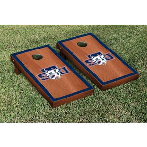 NAIA Rosewood Stained Border Version Cornhole Game Set