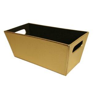 Decorative Storage Faux Leather Bin
